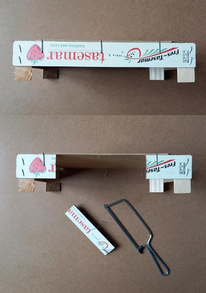 Le mini théâtre magnétique du petit chaperon rouge-Préparer la scène du petit théâtre