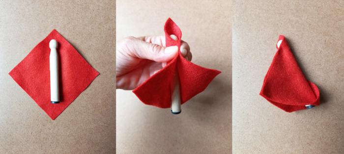 Le mini théâtre magnétique du petit chaperon rouge-Habiller les personnages