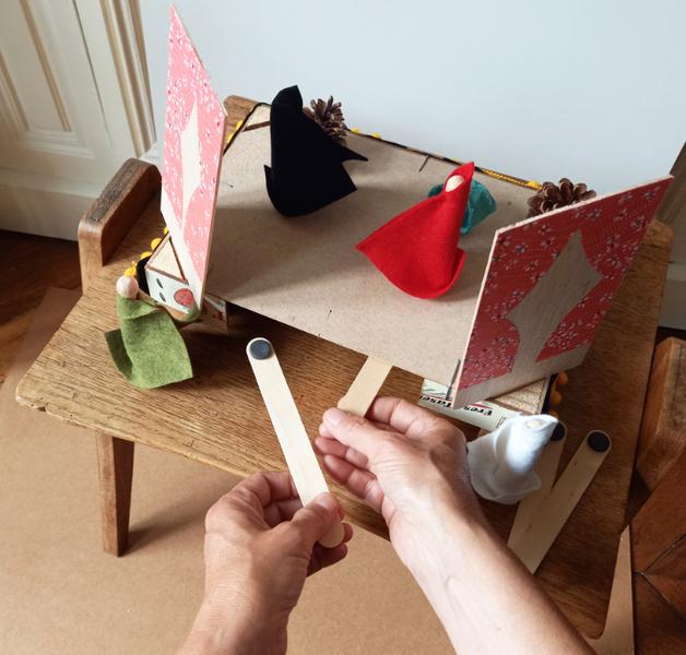 Le mini théâtre magnétique du petit chaperon rouge-Comment faire bouger vos personnages ? Grâce à la magie des aimants !