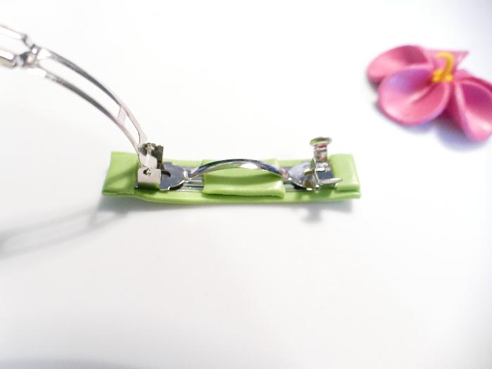 Barrette Feur d'Hibiscus-Montage de la semelle verte