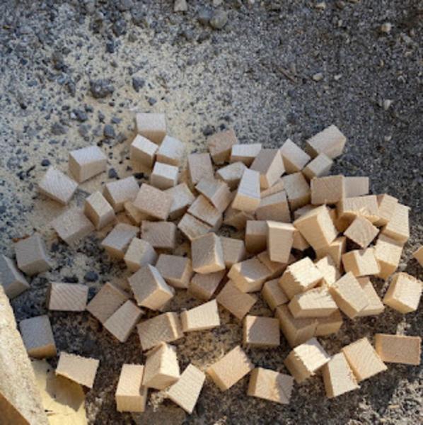 Créer un tableau 3D en bois-1. Préparer  les morceaux de bois