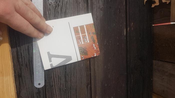 Bougeoir en bois - Trés facile-Fabrique ton équerre (ou prends en une toute faite) et trace le premier trait