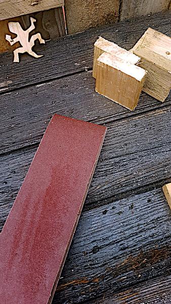 Bougeoir en bois - Trés facile-Ponçage