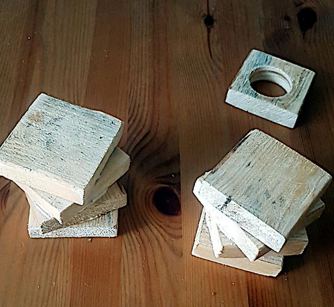 Bougeoir en bois - Trés facile-Collage