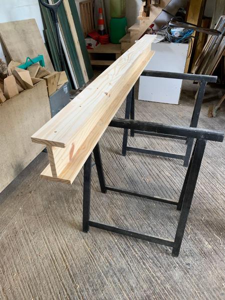 Créer un IPN trompe l'oeil en bois-Assembler les planches pour former l'IPN