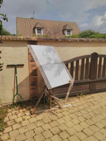 Héliostat - Lumière et Chauffage solaire par miroir suiveur-Réaliser le bras orientable pour le capteur