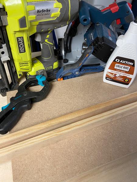 """DIY : Tableau """"Caisse américaine"""" avec panneau rainuré peint-Achat et récupération du matériel nécessaire à la fabrication"""