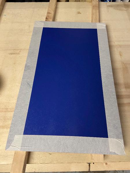 """DIY : Tableau """"Caisse américaine"""" avec panneau rainuré peint-Mise en peinture du panneau et rainurage"""