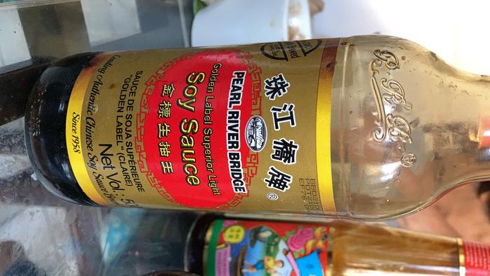 recette chinoise familiale : soupe/bouillon rapide aux algues et boulettes de poissons-Assaisonement