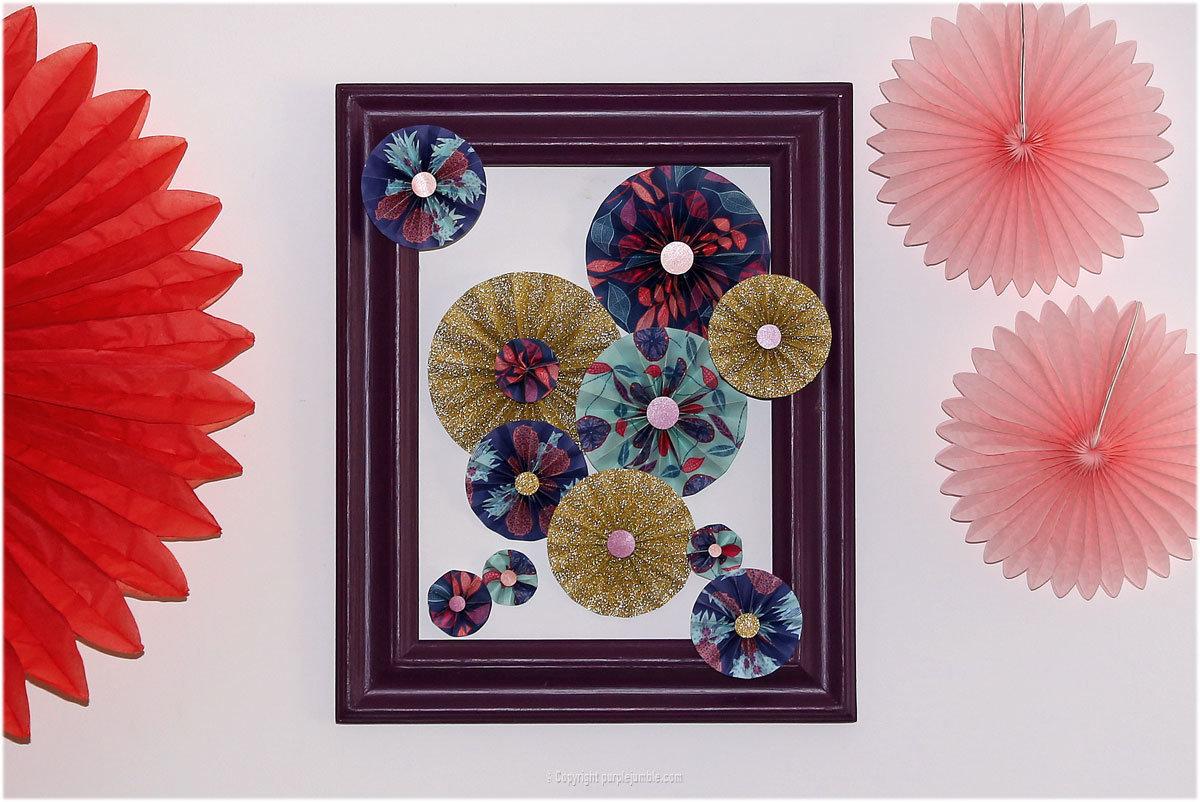 diy une d co murale de rosaces en papier oui are. Black Bedroom Furniture Sets. Home Design Ideas