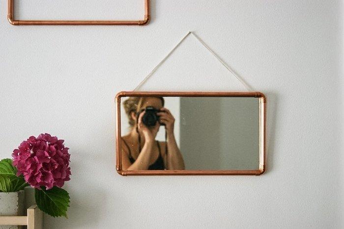 diy miroir tube de cuivre oui are makers partageons notre cr ativit. Black Bedroom Furniture Sets. Home Design Ideas
