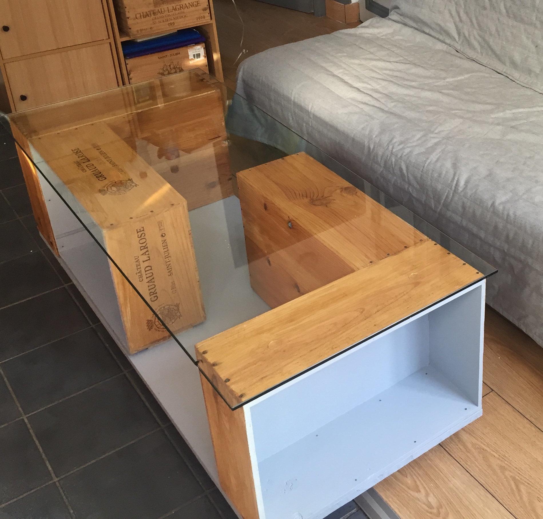 Tuto Table Basse Bois table basse à partir de caisses à vin | oui are makers