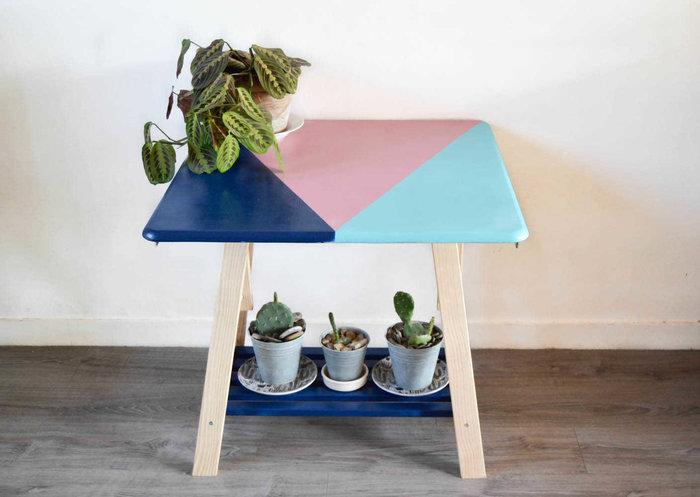 moderniser une table en porte plantes r tro oui are makers partageons notre cr ativit. Black Bedroom Furniture Sets. Home Design Ideas