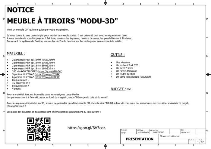 Meuble A Tiroirs Modu 3d Oui Are Makers Partageons Notre