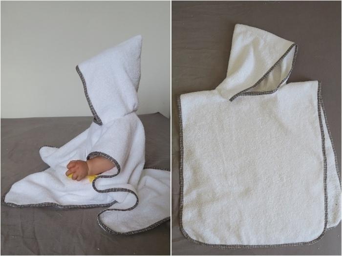 un poncho de bain pour b b oui are makers partageons notre cr ativit. Black Bedroom Furniture Sets. Home Design Ideas
