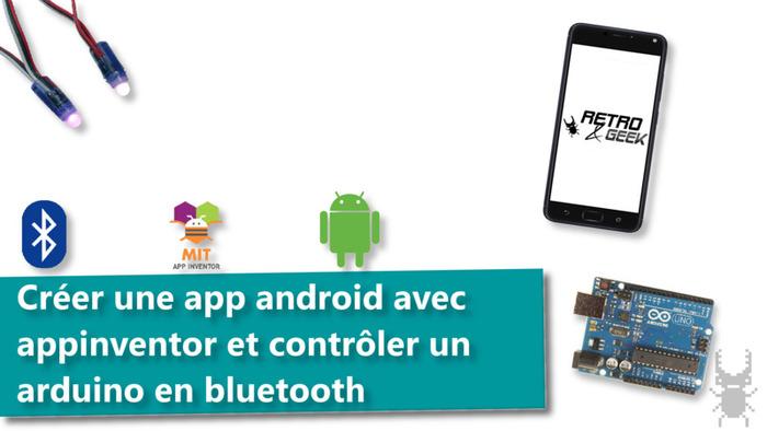Créer une application android avec appinventor et contrôler