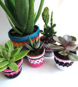 Mini cache-pot crocheté