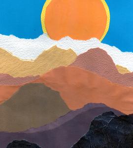 Le soleil se cache derrière les dunes
