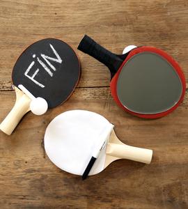 Transformer une raquette de ping-pong en ardoise